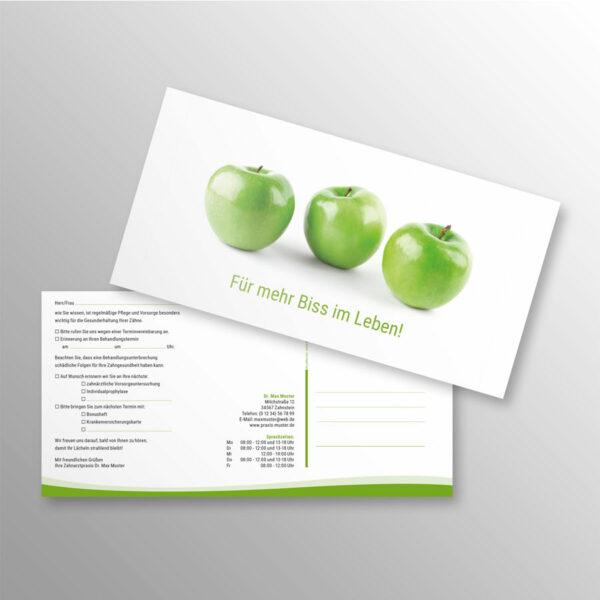 Recallkarten DINlang wave Apfelgrün