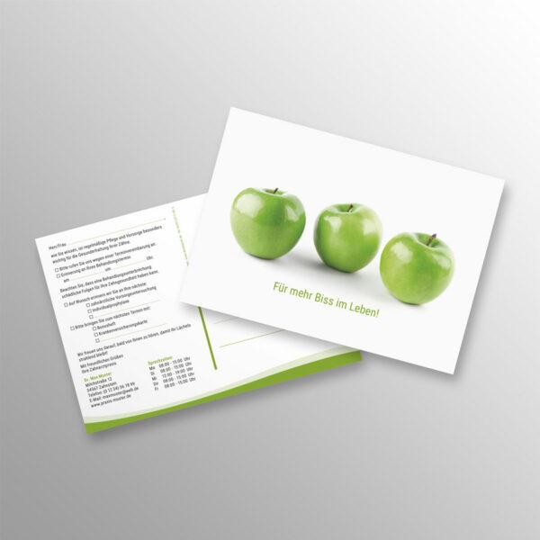 Recallkarten A6 wave Apfelgrün