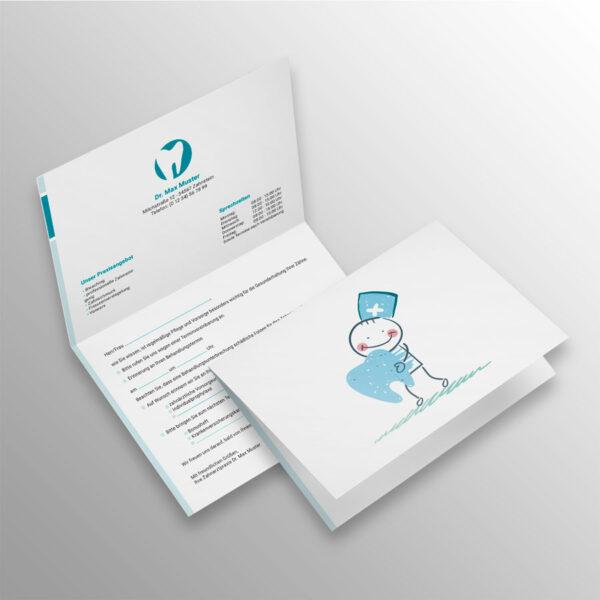Verschluss-Recallkarten blocks aqua Datenschutz Zahnarzt
