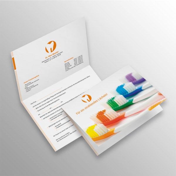 Verschluss-Recallkarten blocks orange Datenschutz Zahnarzt