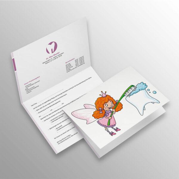 Verschluss-Recallkarten blocks violett Datenschutz Zahnarzt