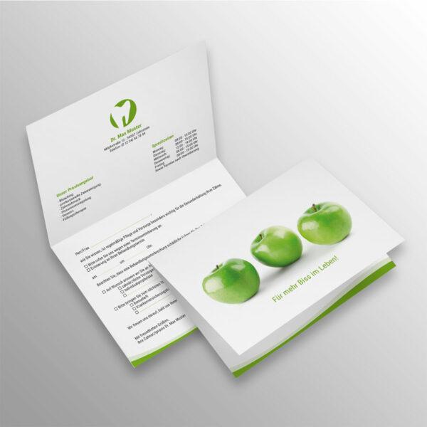 Verschluss-Recallkarten wave apfelgrün Datenschutz Zahnarzt