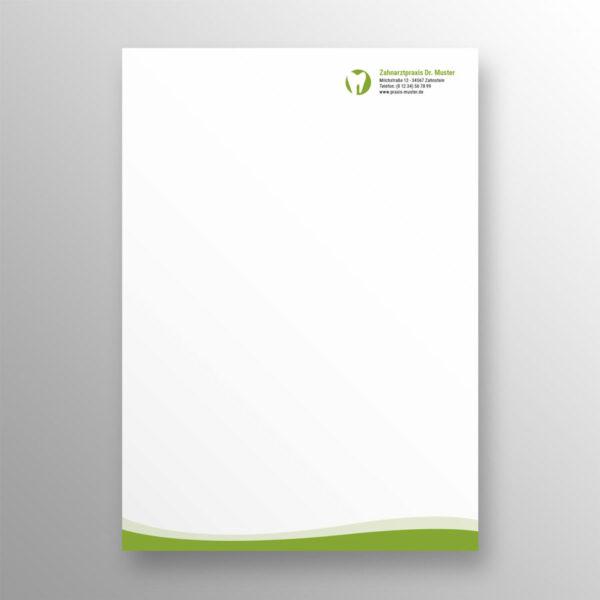 Briefbogen 1seitig wave apfelgrün