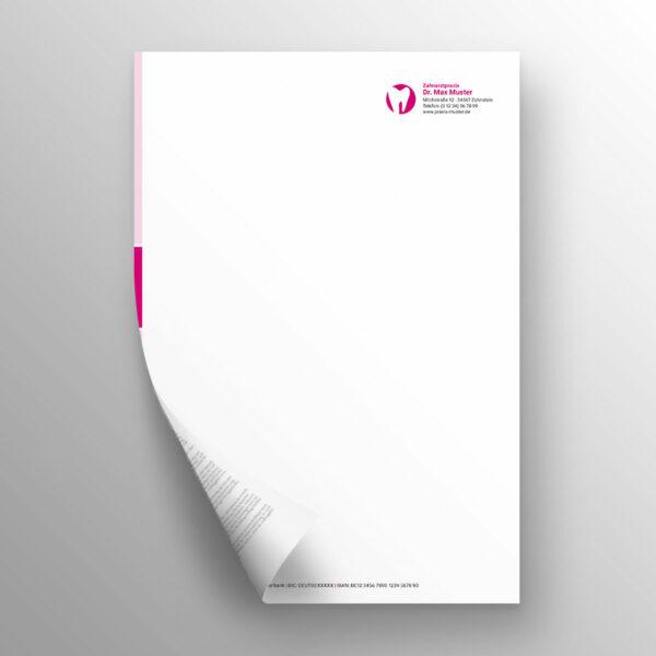 Briefpapier 2-seitig blocks magenta