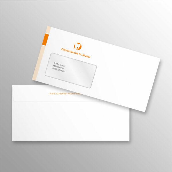 Briefumschlag DIN lang blocks orange