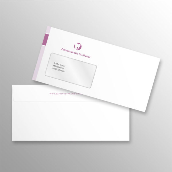 Briefumschlag DIN lang blocks violett