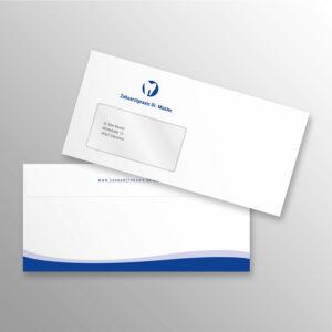 Briefumschlag DIN lang wave blau