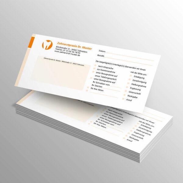 Kurzmitteilungen 100 Blatt blocks orange