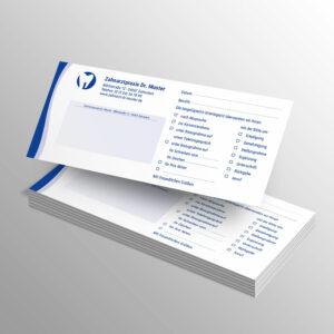 Kurzmitteilungen 100 Blatt wave blau