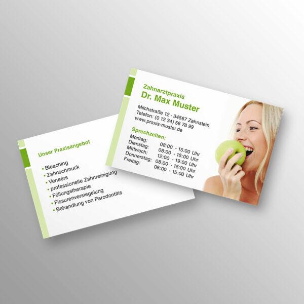 Visitenkarte 2-seitig blocks apfelgrün